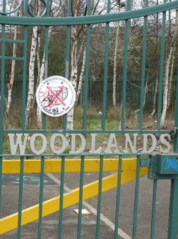 Carmel Hanna MLA (inset) is calling for a meeting to discuss ongoing antisocial behaviour at Finaghy's Woodlands Playing Fields