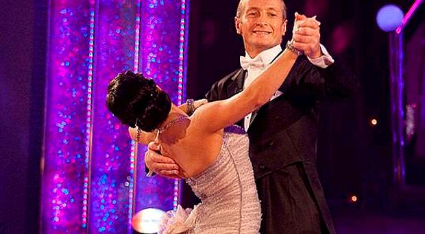 Richard Dunwoody and Lilia Kopylova during the dress rehearsal for tonight's edition of the BBC entertainment programme Strictly Come Dancing