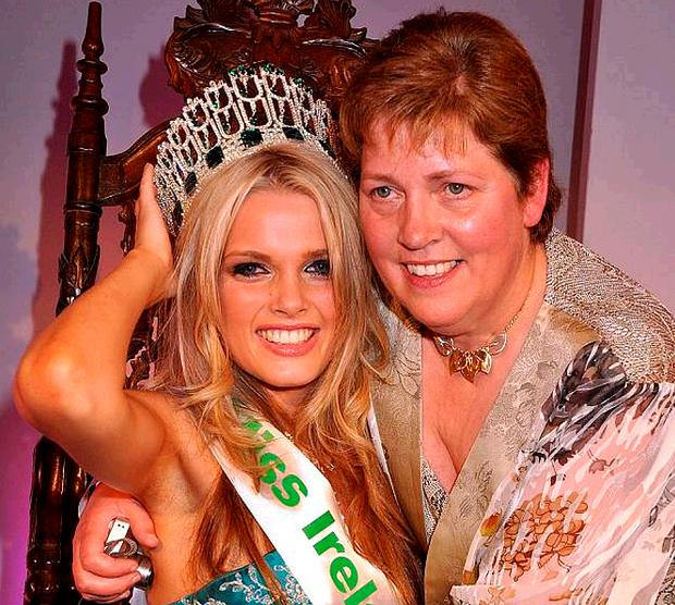 Miss Ireland Laura Patterson with her mother Violet