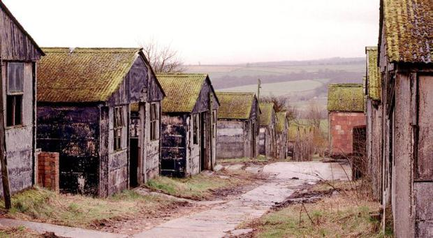 Harperley Prisoner of War camp at Weardale in County Durham