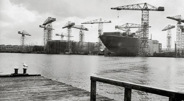 Musgrave Dock, April 1967 To purchase this photograph as large format canvas or acrylic visit Belfast Telegraph page on www.niphotocanvas.co.uk