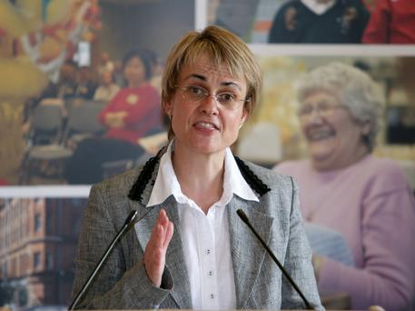 PICTURE COURTESY OF DSD PRESS OFFICE10/8/07: Social Development Minister Margaret Ritchie making her statement on the future of the Conflict Transformation Initiative (CTI) at Parliamant Buildings, Stormont where she challenged the UDA to begin decommissioning its weapons or funding provided to the CTI will cease.