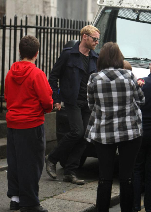 Ronan Keating of Boyzone leaves St Laurence O'Toole Parish after speaking with the Priest about the arrangements for the funeral