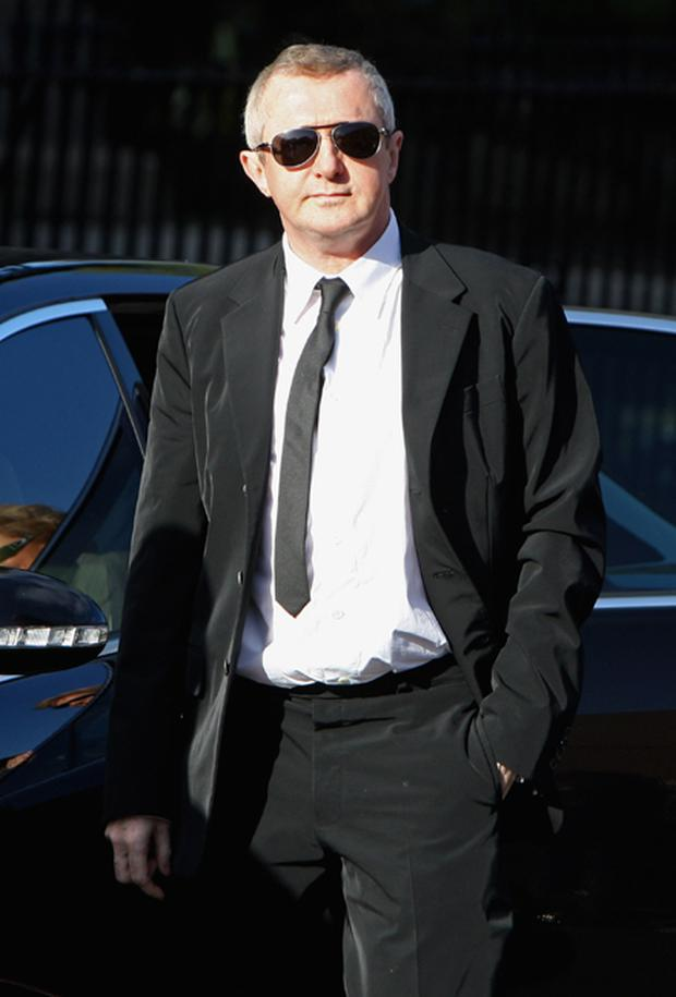 Louis Walsh attends the funeral of Boyzone singer Stephen Gately at St Laurence O'Toole Church in Dublin