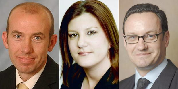 Alister Higgins, Leanne Whaley, Stephen Hill