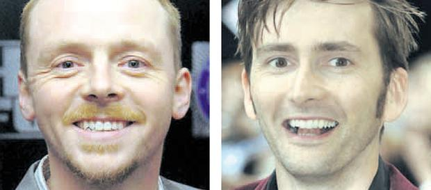 The stars who will play Burke and Hare in the new movie about their gruesome life and times, Simon Pegg (left) and David Tennant (right)