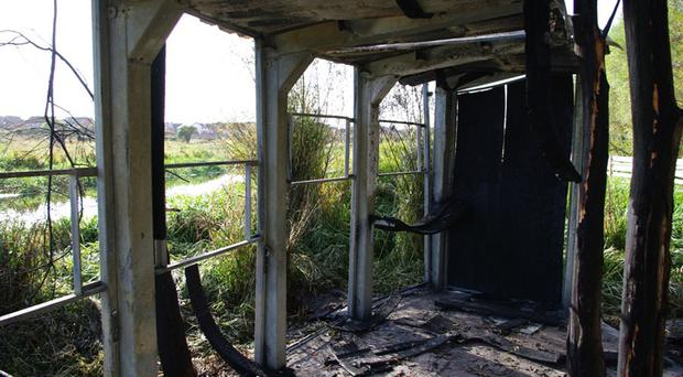 Extensive damage was caused at Balloo Wetlands Centre in Bangor recently
