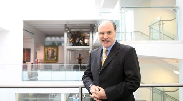 Tim Cooke in the reopened Ulster Museum