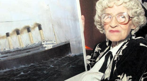 Millvina Dean, the last survivor of the Titanic disaster, whose ashes were to be scattered today at the terminal where the ill-fated ship set sail