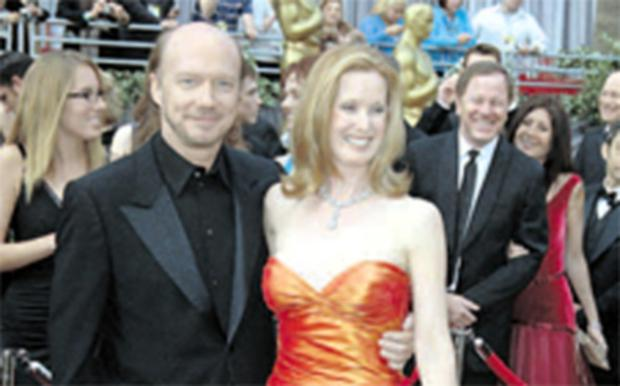 Paul Haggis with his wife Deborah Rennard at the Oscars