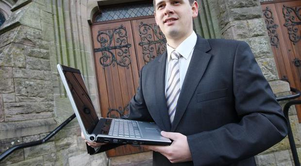 Divine intervention — GCD director, Andrew Cuthbert, who develops software for churches