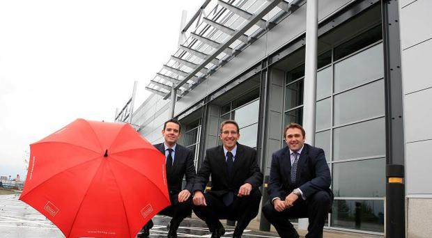 Nicky Finneston, Lisney; Ian Geery, Dreams, and Alastair Coulson of Crescent link developer, Genova North West
