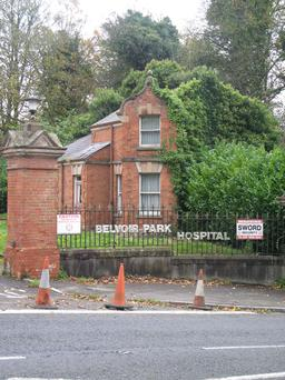 Plans aim to redevelop the currently idle Belvoir Park Hospital site (entrance pictured right)