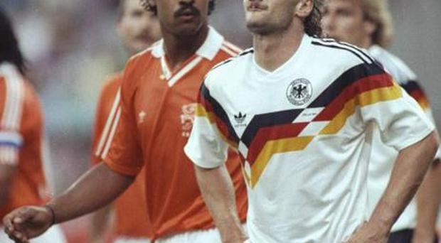 <b> Frank Rijkaard</b> Frank Rijkaard spat into Rudi Voller's mullet not once but twice as hostilities between Holland and Germany boiled over at the 1990 World Cup.