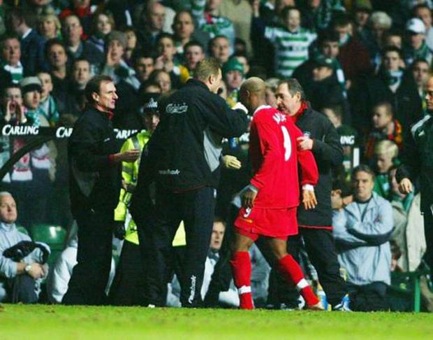 In 2003 while playing for Liverpool El Hadji Diouf spat at Celtic fans and a year later was at it again when he spat at Portsmouth skipper Arjan de Zeeuw during his time at Blackburn. He's also faced numerous other accusations from fans that he's sent a loogie in their direction