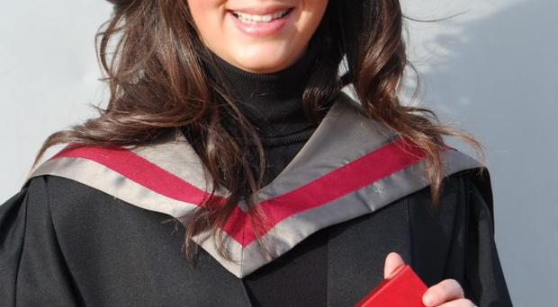 As 21 year old Eimear McKenna receives her HND in Beauty Therapy at today's Belfast Metropolitan College Higher Education Ceremony, she already has one successful year of running her own business under her belt