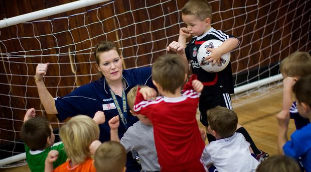 All staff at ToddlerSoccer are fully trained and vetted (Picture: WWW.CHRISNELONPHOTO.COM)