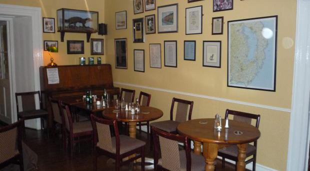 IN ARMS WAY: The decor at Dufferin Arms is depressingly dreary