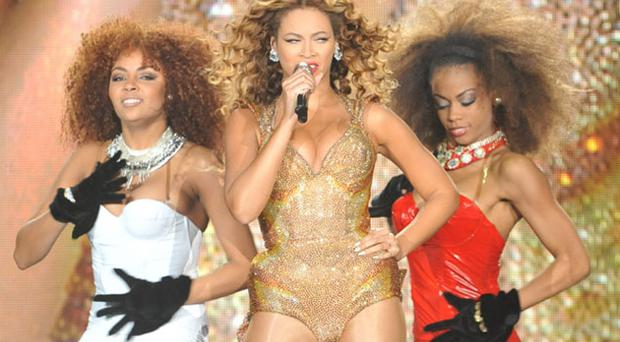 Bootylicious: Beyonce on stage at the Odyssey Arena in Belfast