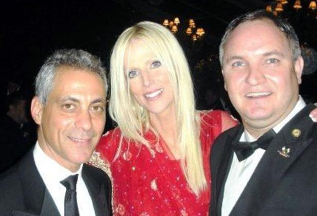 Michaele and Tareq Salahi with White House chief of staff Rahm Emanuel