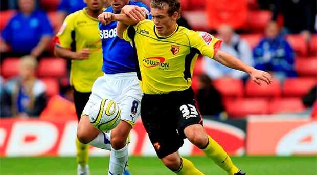 Lee Hodson in action for Watford against Cardiff City earlier this season, had no qualms about exercising his right to play for Northern Ireland