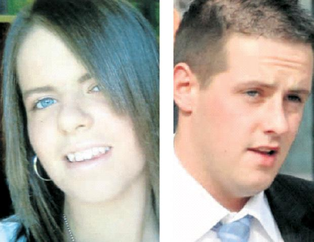 Road tragedy: Adele Whiteside (left) was killed in a fatal crash in 2007. Michael Thomas McDonnell (right) received a suspended sentence for the death
