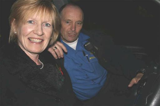 North Down MP Lady Sylvia Hermon and local paramedic Ricky Bendall