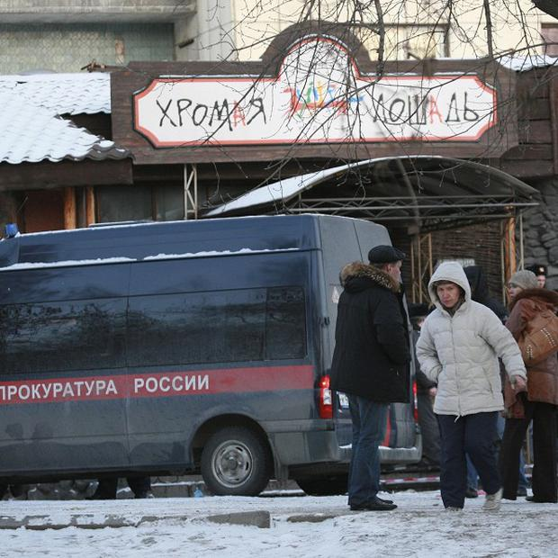 A fire has torn through a nightclub in the Russian city of Perm