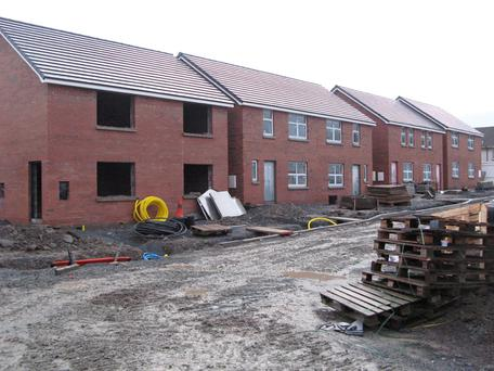 The new housing being constructed in Rathgill
