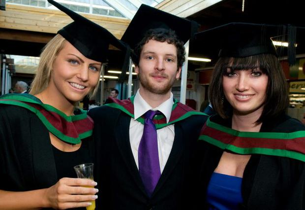 Michelle Clarke, Marcus Shortall and Anna McEntee who all graduated from the University of Ulster at Coleraine after completing their Master's in Human Nutrition.