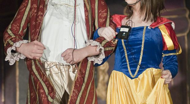 Students perform Snow White and the Seven Dwarfs for local senior citizens