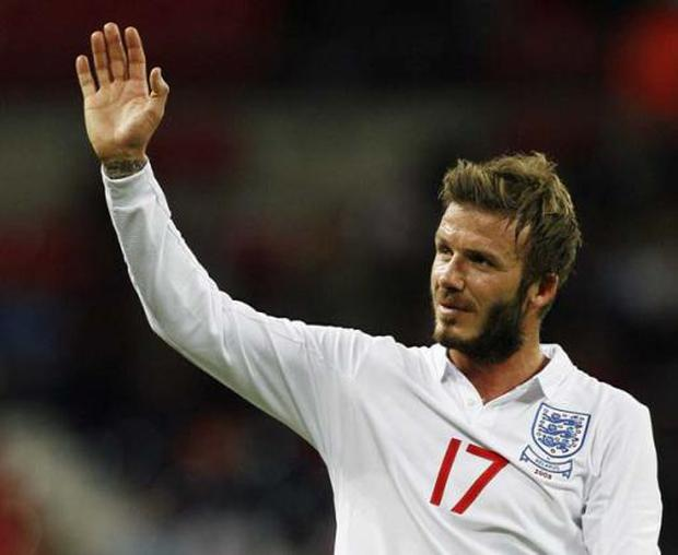 """<b>SLOTH</b><br/> """"Well, Halloween's coming up and I was thinking of Wolverine. It's not anything to do with any play-off ritual - I'm just lazy and can't be bothered to shave. And everybody keeps telling me to cut it and I'm stubborn.""""<br/> David Beckham reveals the real reason for his scary beard"""