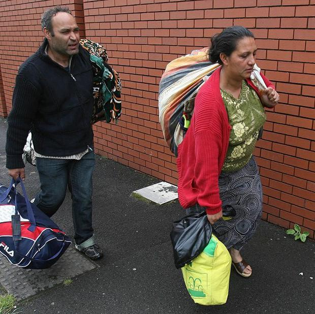 Romanians were forced to leave their homes in the Lisburn Road area in south Belfast due to a spate of racist attacks in June
