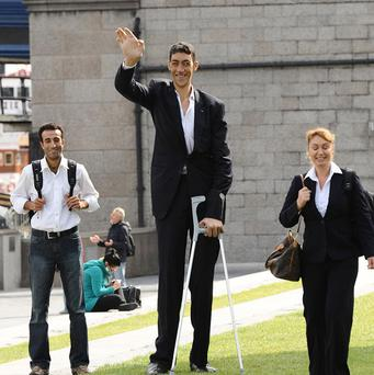 Sultan Kosen, from Turkey, was announced as the Guinness World Records Tallest Man