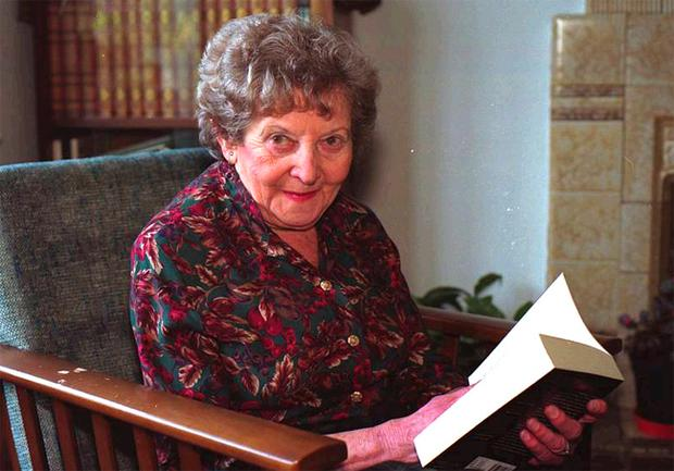 Choreographer and writer Helen Lewis pictured in her Belfast home in 1999