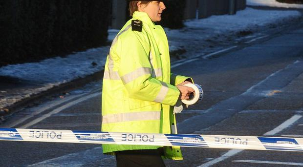 Three men were taken to hospital after a gas cylinder exploded at an industrial premises