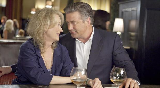 The ex-factor - Jane (Streep) and ex-husband Jake (Baldwin) reminisce and rekindle their romance