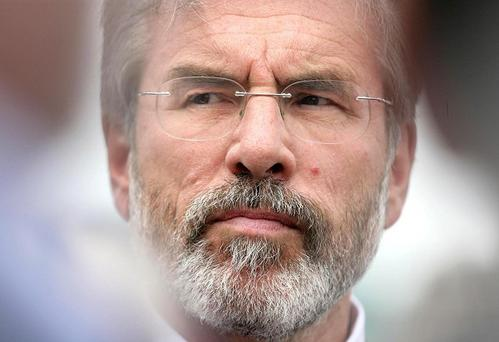 Gerry Adams has received a death threat from loyalist paramilitary group the Orange Volunteers
