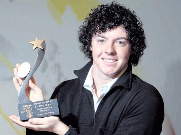 Rory McIlroy was last night named Belfast Telegraph Sports Star of the Year