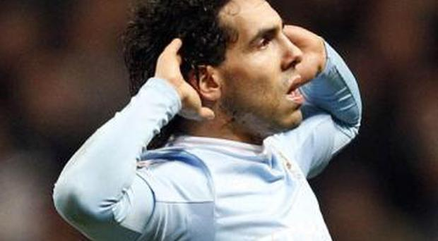 <b>Carlos Tevez</b> During the Carling Cup semi-final first-leg, Carlos Tevez silenced the Manchester United fans, and then set about infuriating them. To celebrate his second goal the little Argentinian ran to the halfway line and then cupped his ears in the direction of the directors. The celebration was a re-enactment of one he performed when a United player at Old Trafford, which was designed to ask those in charge why they wouldn't sign him on a full-time basis, something which still upsets the striker.