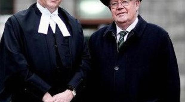 Donal O'Donnell (left) at his declaration as a Judge of the Supreme Court with his father Judge Turlough O'Donnell