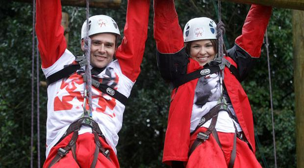 David Healy and Zoe Salmon launch Comic Relief's Sports Relief in Belfast