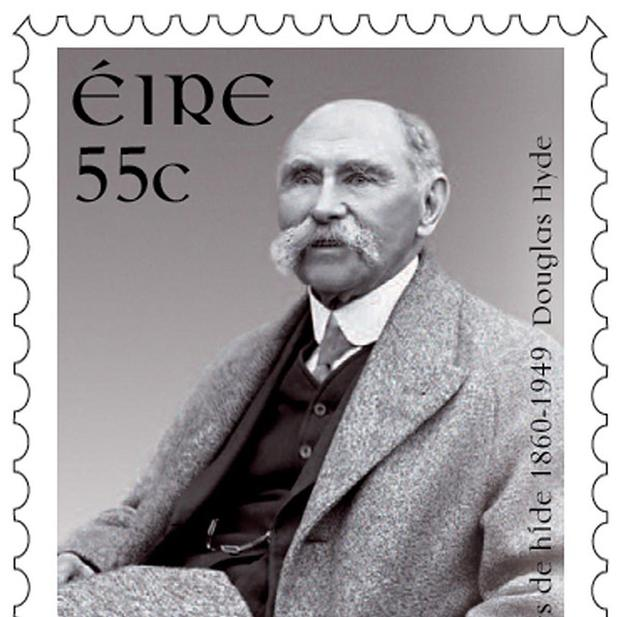 An Post stamp commemorates the 150th birthday of President Douglas Hyde