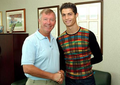 <br /><b>Ronaldo's jumper</b><br /> Some might say that Ronaldo's style has improved. He's pictured here with Sir Alex Ferguson on signing for Manchester United in 2003