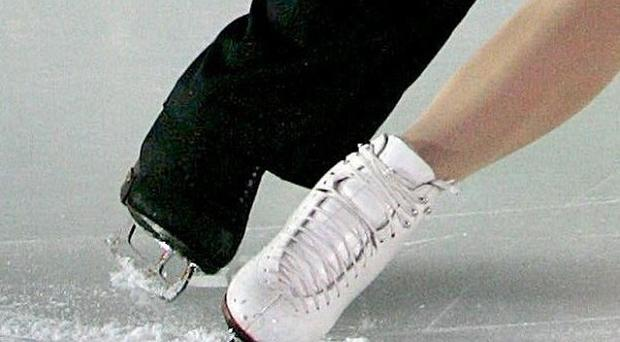 An ice skating-rink has opened at Belfast's Custom House Square