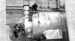 The new boiler, which is part of the developments at Old Bushmills Distillery, Bushmills, Co. Anrtim. 18/8/1965