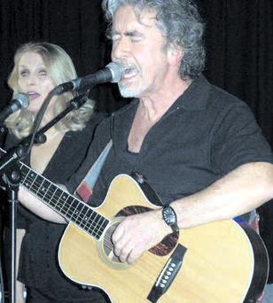 Ex-psychotherapist Beechy Colclough performing in his new role as a rock singer