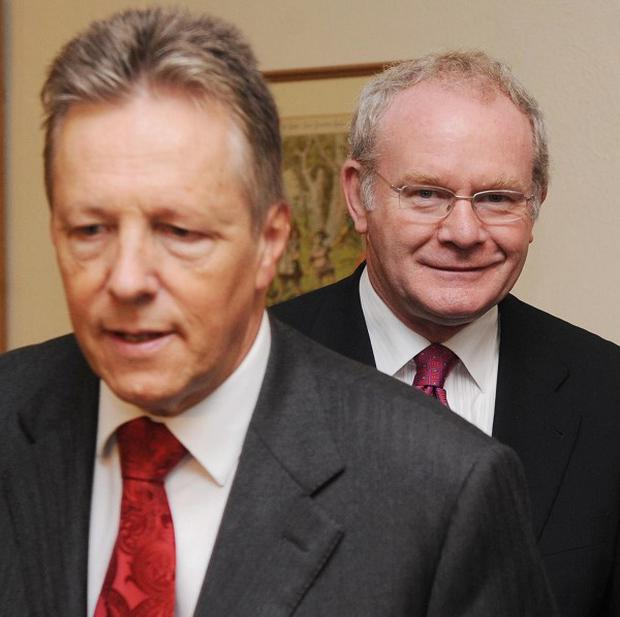 The deadline for Peter Robinson and Martin McGuinness to come up with an agreement is looming
