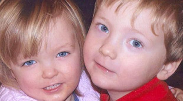 Elise, 2, and Harry, 3, Donnison
