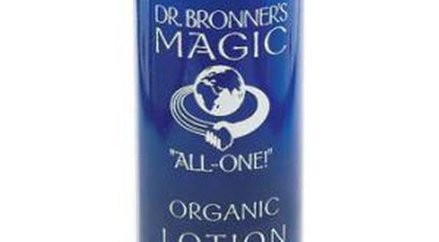 BODY <b>Dr Bronner's Organic Lotion</b> Dr Bronner?s products are free from preservatives and made from natural organic ingredients. This peppermint body lotion uses coconut oil and avocado and is also great for hands, which are forgotten about. <b>Where</b> www.liberty.co.uk <b>How much</b> £4.99